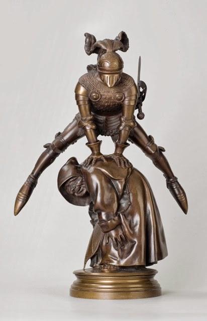 Gustave Doré, Joyeuseté, dit aussi A saute-mouton, vers 1881, Bronze, Paris Musée d'Orsay