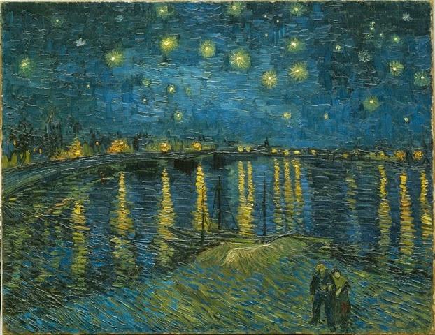 Vincent Van Gogh (1853-1890) La nuit étoilée, Arles, 1888 - Huile sur toile 72,5 x 92 cm, Paris, Musée d'Orsay.