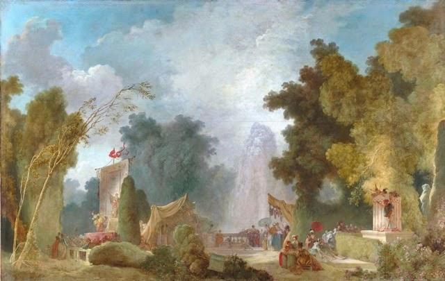 Jean Honoré Fragonard (1732 - 1806), La fête à Saint Cloud (vers 1755-1780) - huile sur toile, Paris, Hôtel de Toulouse, siège de la Banque de France - copyright RMN Grand Palais/Gérard Blot.