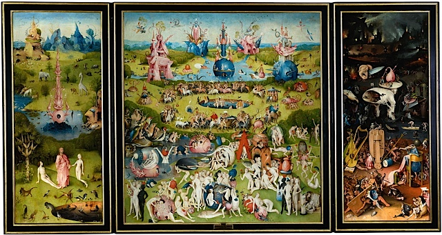 Artiste : Jérôme Bosch,Dimensions : 2,2 m x 3,89 m Lieu d'exposition : Musée du Prado Création : 1503–1515 Période : Renaissance nordique Supports : Peinture à l'huile, Chêne
