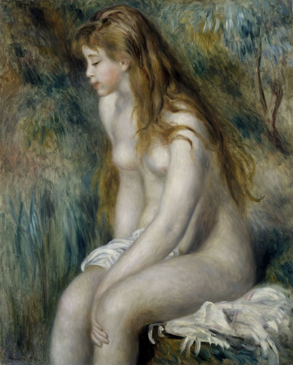 Pierre-Auguste Renoir – Baigneuse assise 1892 – Huile sur toile – 81,3 x 64,8 cm New York, The Metropolitan Museum of Art © The Metropolitan Museum of Art, Dist. RMN-Grand Palais / image of the MMA