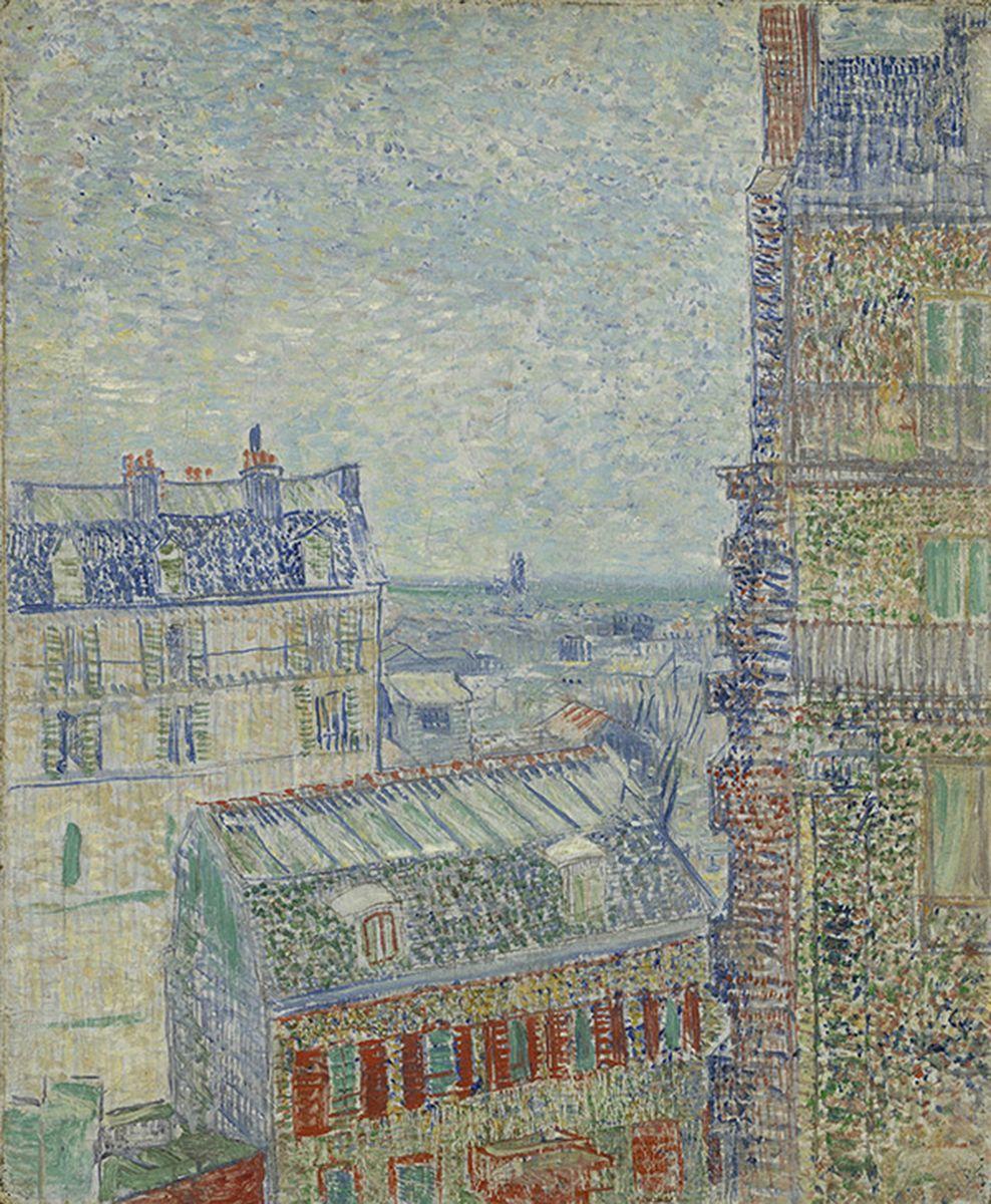Vincent van Gogh, Vue depuis l'appartement de Theo, 1887, huile sur toile, Amsterdam, Van Gogh Museum (Vincent Van Gogh Foundation)